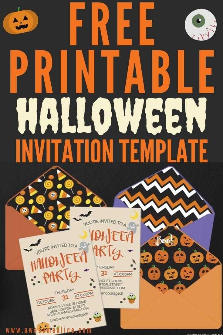 Free Editable Halloween Party Invitations And Printable Envelope Liners Party Invite Template Printable Halloween Party Invitations Halloween Party Invitation Template
