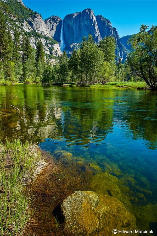 Yosemite Falls Reflections by Edward Marcinek on 500px