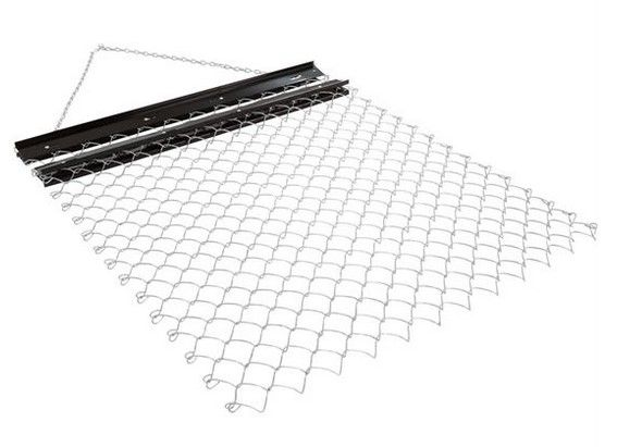 5' x 4' ATV Drag Harrow | For those that want to plant food for deer, turkey, and other game with ease - attach the ATV Drag Harrow to your ATV, UTV, or garden tractor to level dirt or gravel, seed food plots, or prep for sodding. The chain harrow features heavy-duty steel galvanized mesh construction with rust-resistant powder-coat finish, which is easy to roll up for storage.