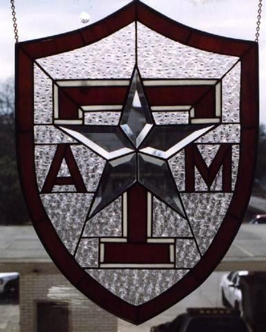 Texas A&M Stained Glass Window Panel
