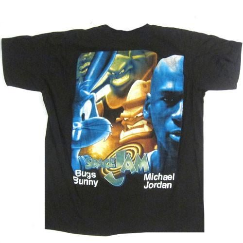 Vintage Space Jam Michael Jordan Bugs Bunny T-shirt 1996 NBA Basketball Movie