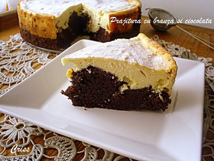 Reteta Prajitura (pasca) cu branza si ciocolata - Dulciuri
