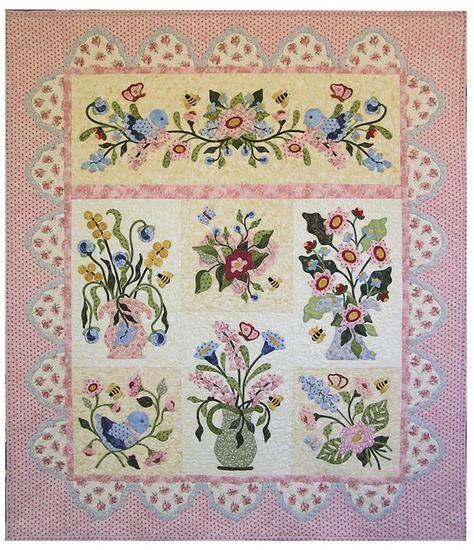 Fantasy Flowers Quilt  Pearl P. Pereira Designs