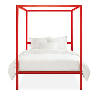 Strength and scale combine to create Architecture—a modern bed with a dramatic presence. Handmade from sturdy steel and finished with a glossy powder-coating, Architecture adds a pop of color in a modern form. Choose the Tall profile for greater clearance between the side rails and the floor.