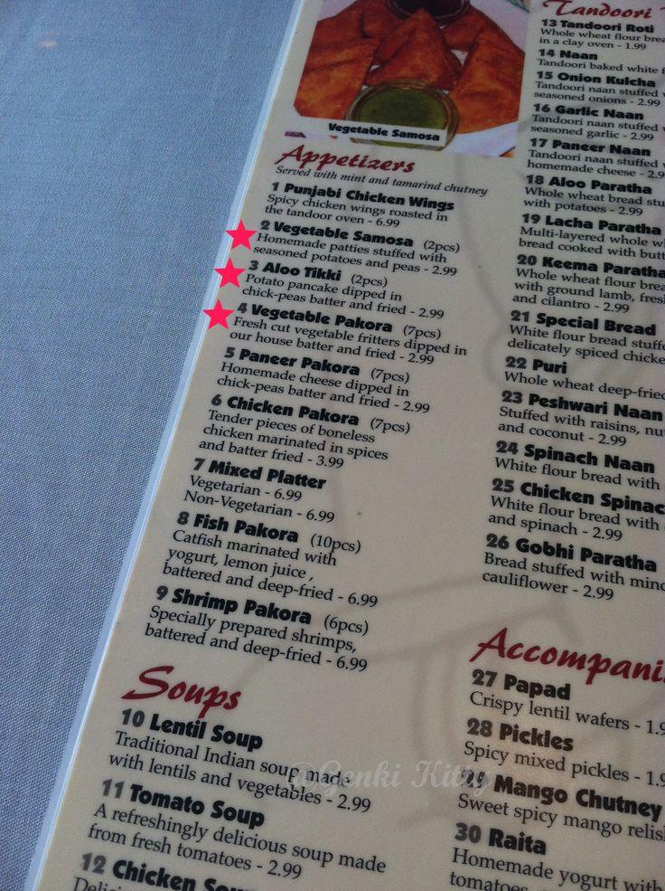 India Garden Restaurant Mishawaka, Indiana Vegan options