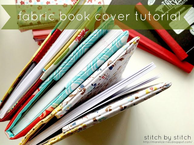 Stitch by Stitch: Fabric Book Cover Tutorial  cover some little notebooks for an easy gift