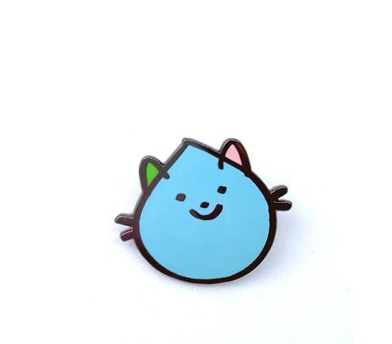 rainy day cat enamel pin