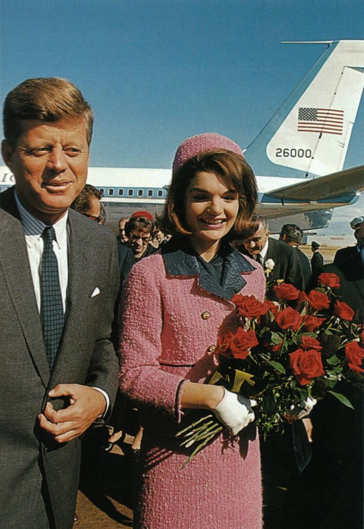 The chic couple arrives in Dallas in 1963. JFK, 43, wanted to mend a few political fences before the 1964 election; Jacqueline Bouvier Kennedy, 34, had joined him despite her aversion to politics.
