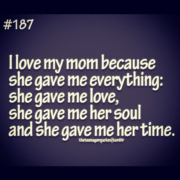 I Love My Mother Quotes | photo