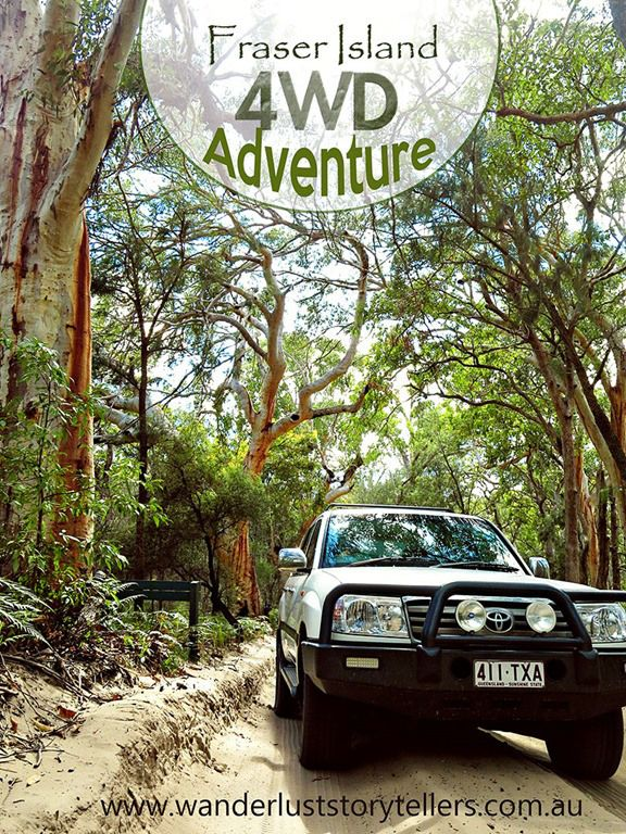 Fraser Island in QLD, Australia.  The biggest sandy island on the world!!  Only 4WD vechicles are allowed here.  Perfect destination to 'get off the grid' to unwind and refresh.  Awesome to connect back in to nature!  Our kids loved connecting in with the nature!