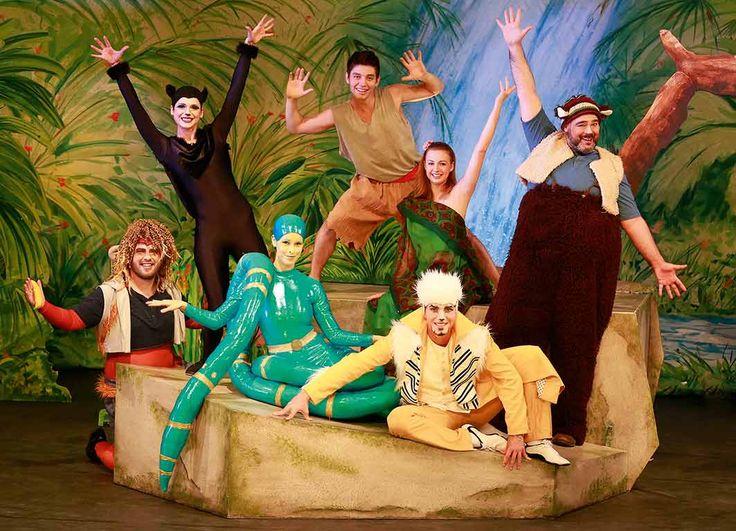 Dschungelbuch – das Musical als Live-Erlebnis im Theater am Tanzbrunnen Köln #Freizeit_Kultur #Affen #Affenbande #Baghira #Balu