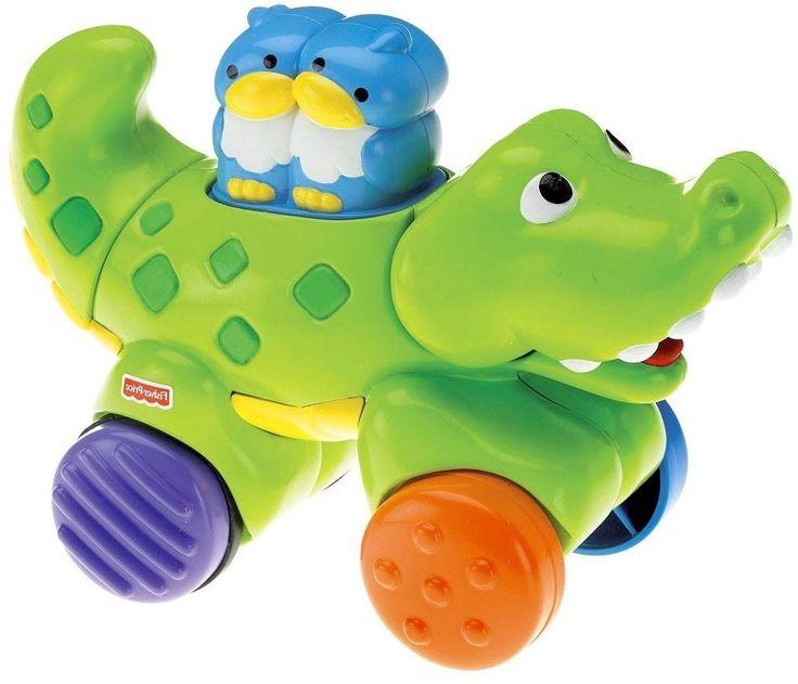 Fisher-Price Fisher-Price, Веселые животные на колесиках с сюрпризом Крокодил
