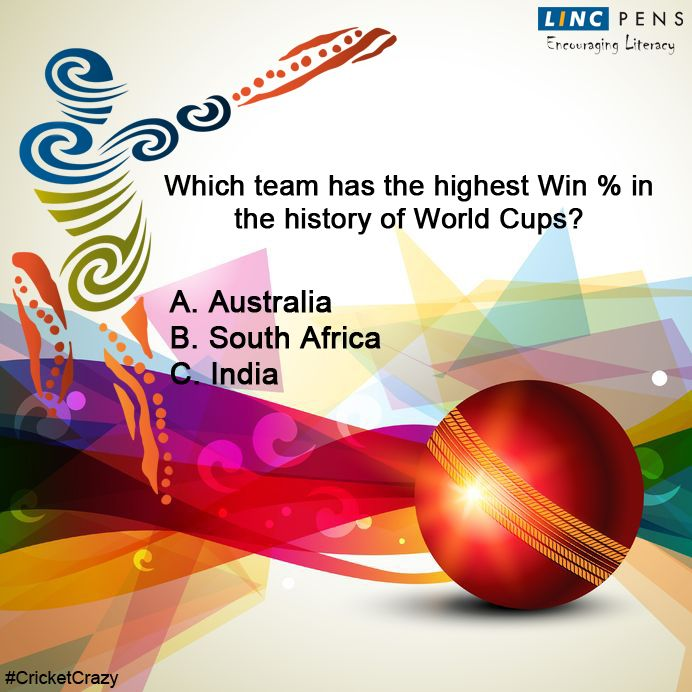 Question #19 ‪#‎CricketCrazy‬ ‪#‎WorldCup15‬