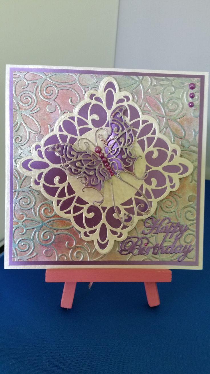 Birthday Card using gilding polish