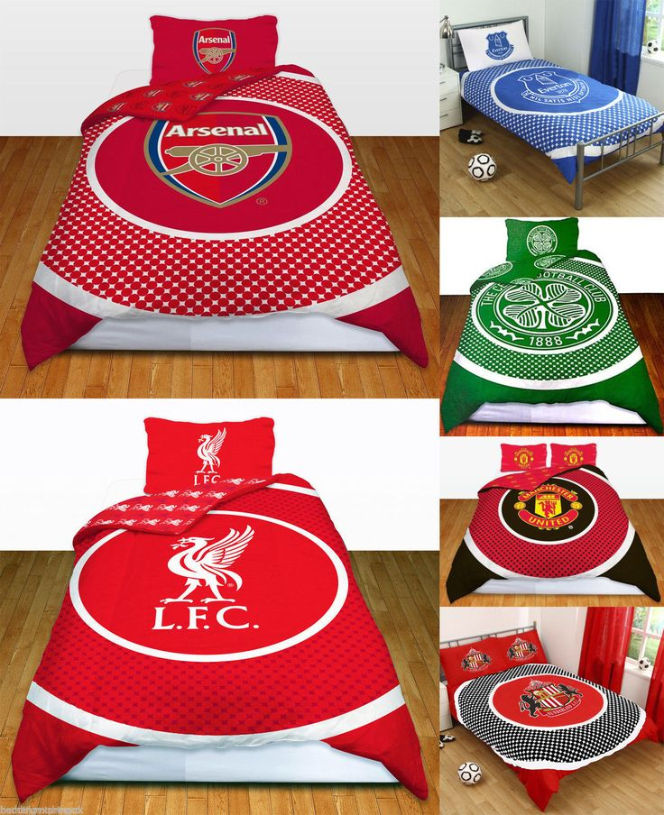#Football #teams #reversible bullseye single & double duvet cover with pillow cas,  View more on the LINK: 	http://www.zeppy.io/product/gb/2/122016494683/
