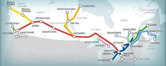love to do The Canadian across Canada from Vancouver to Toronto - preferably stop at Winnipeg to go to Churchill then continue to Toronto