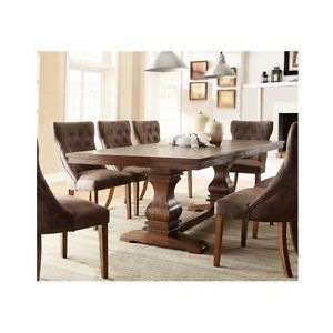 Country-Dining-Table-Farmhouse-Pedestal-Solid-Wood-Extending-French-Leaf-Oak