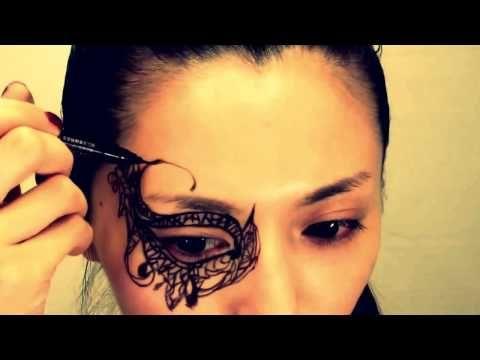 Maschera imitazione pizzo stile gotico - VideoTrucco