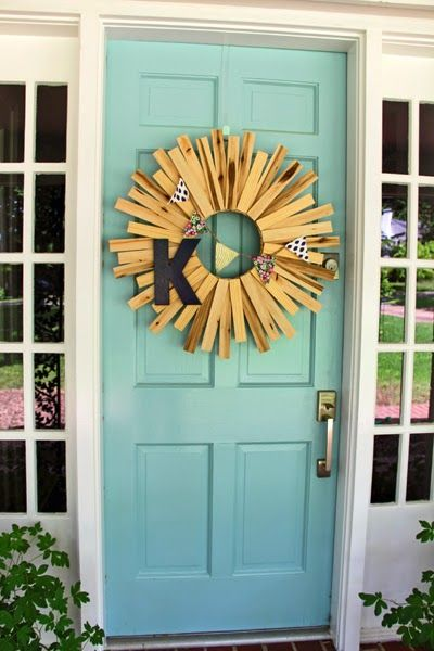 Some Like A Project: Wood Shim Starburst Wreath