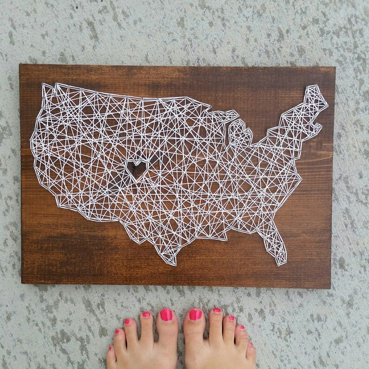 Custom string art US map sign by Blossomingburlap on etsy