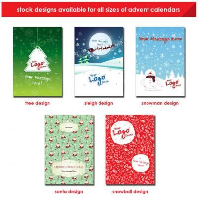 Image of Promotional Christmas themed Stock Advent Calendars - Chocolates