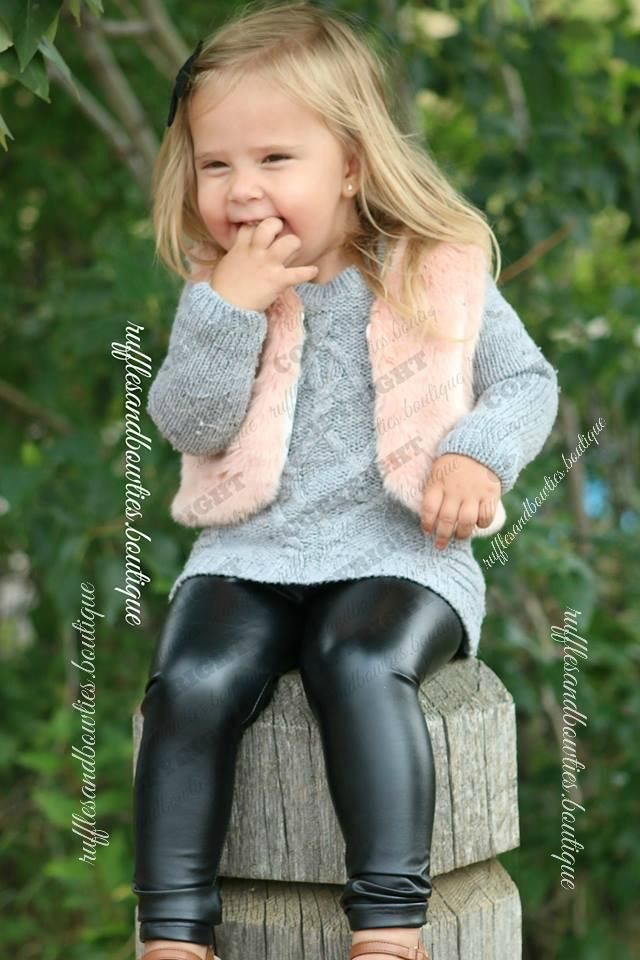 c2c6bc3772ecf Baby Jane Girls Black Fall Pleather Pants | Fashion-Clothing-Little ...