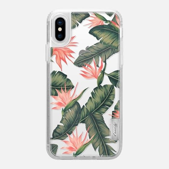 Casetify iPhone X Classic Grip Case - Tropical leaves case by Priyanka Chanda