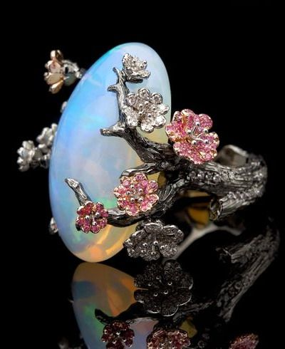 Theodoros Savapoulos, Almond Blossom Opal Ring. This is gorgeous.
