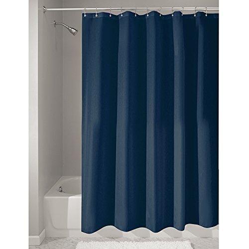 "InterDesign Fabric Shower Curtain - Stall 54"" x 78"" Navy"