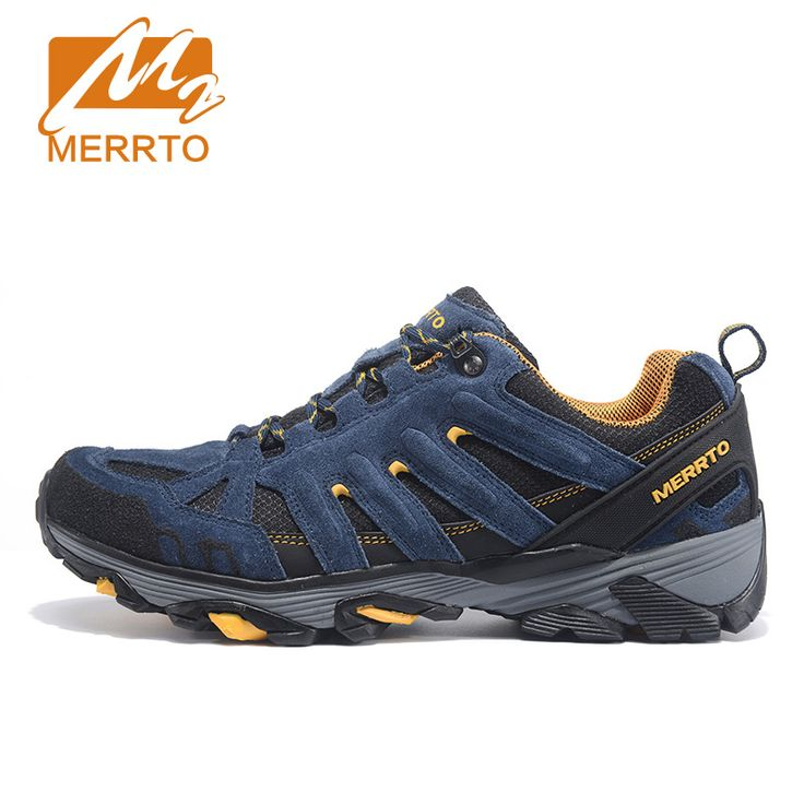 MERRTO Outdoor Breathable Hiking Shoes For Men Cowhide Trekking Shoes Sports Sneakers For Women Lightweight Man Walking Zapatos