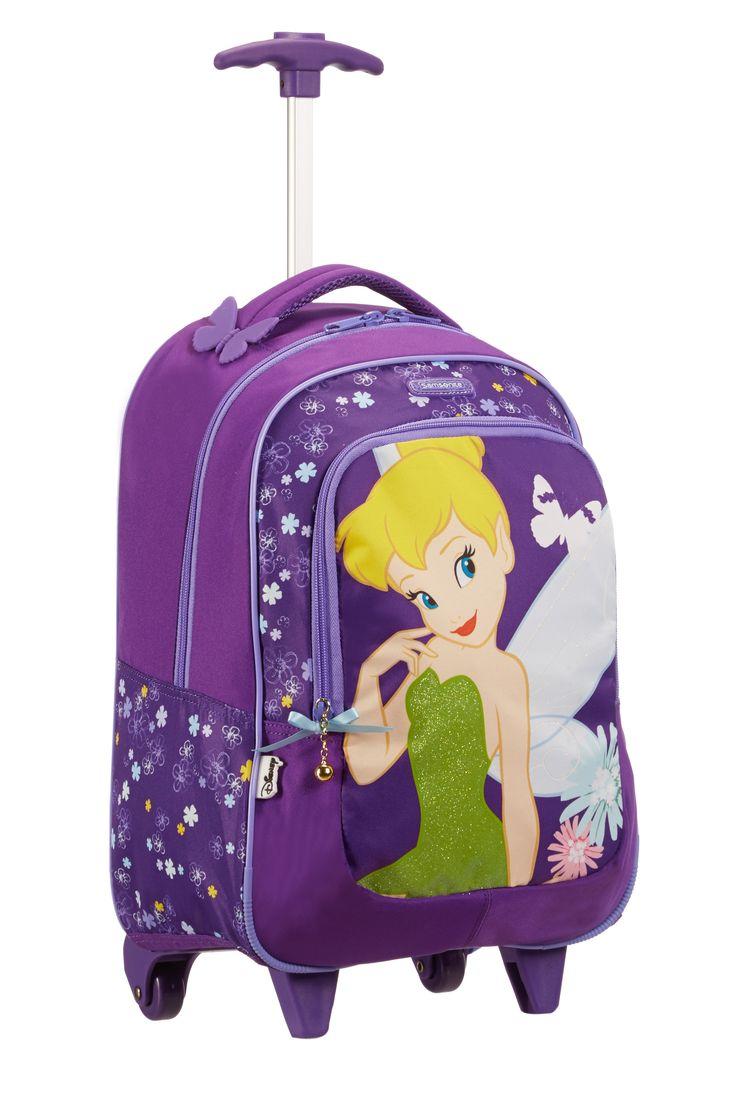 Disney Wonder - TinkerBell Backpack Wheels #Disney #Samsonite #TinkerBell #Travel #Kids #School #Schoolbag #MySamsonite #ByYourSide