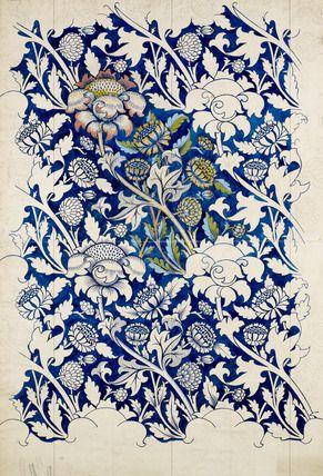 Printed Fabric Design- Wey, William Morris