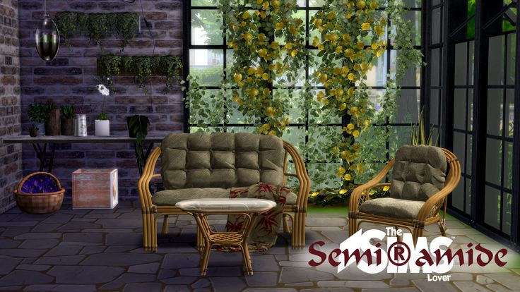 Hi everyone, today I'm here with my last creation!^_^ This set is perfect for the sim that want relax in their porch. I hope you like and GOOD DOWNLOAD! :D
