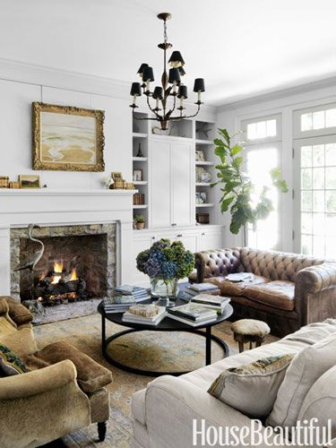 mix of classic neutrals in the living room / nashville house with an old soul (re-pinned ... close up below from cote de texas)