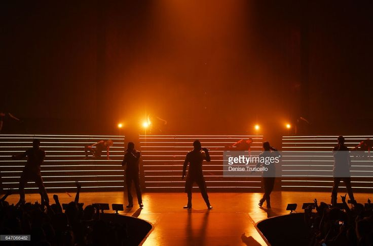 Backstreet Boys perform during the launch of the group's residency 'Larger Than Life' at The Axis at Planet Hollywood Resort & Casino on March 1, 2017 in Las Vegas, Nevada. in Las Vegas, Nevada.