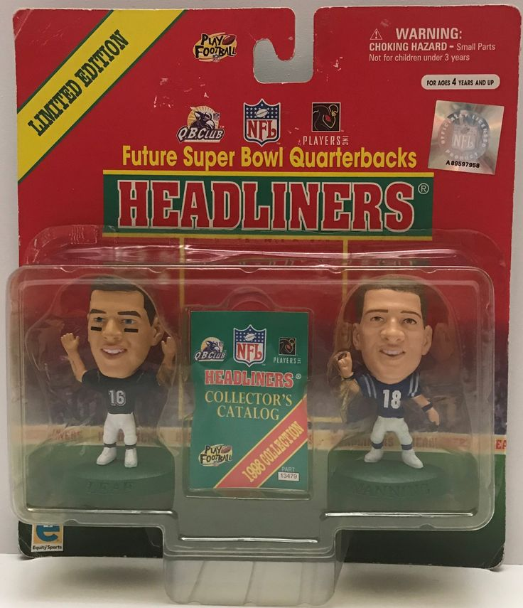 This just in at The Angry Spider Vintage Toy Store: TAS037820 - 1999 ...  Check it out here! http://theangryspider.com/products/tas037820-1999-headliners-nfl-super-bowl-quarterbacks-manning-leaf?utm_campaign=social_autopilot&utm_source=pin&utm_medium=pin