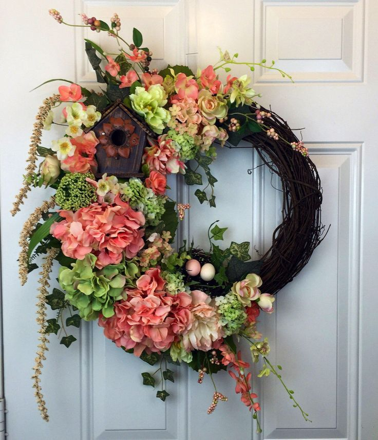 A personal favorite from my Etsy shop https://www.etsy.com/listing/515323583/grapevine-wreath-spring-silk-flower