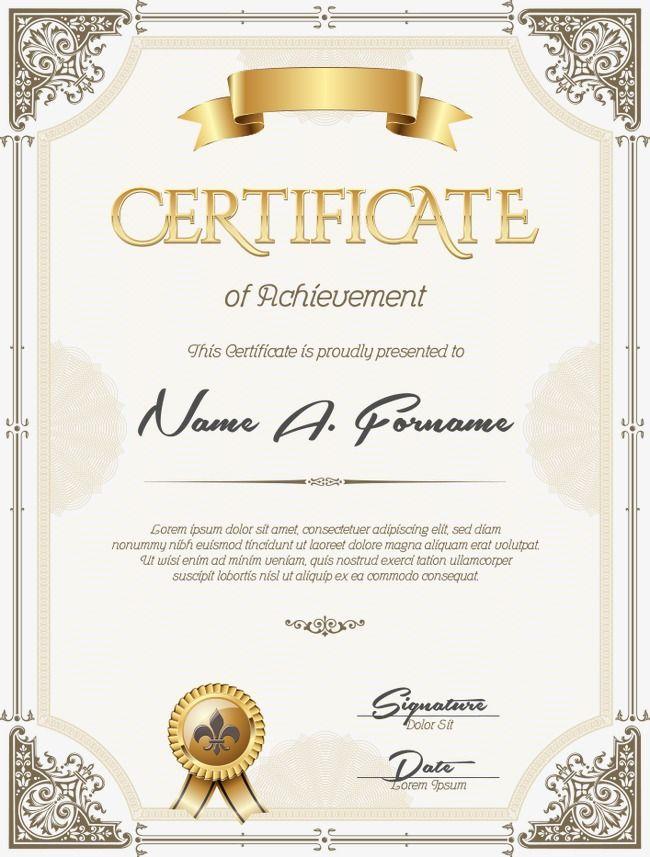 Certificate Template Certificate Design Psd Files Free Download