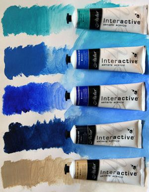 Good information about acrylic paints - types, brands, additive mediums, etc.