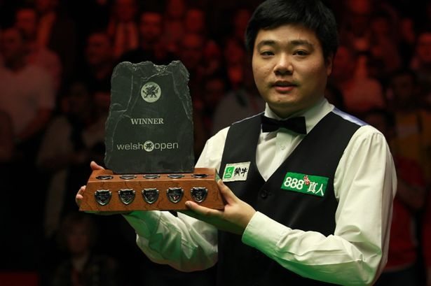 Ding Jun Hui, Defending Welsh Open Champion 2012