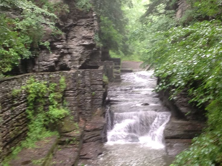 Is it hiking in a gorge when the path is paved with stones?  Finger Lakes, ny