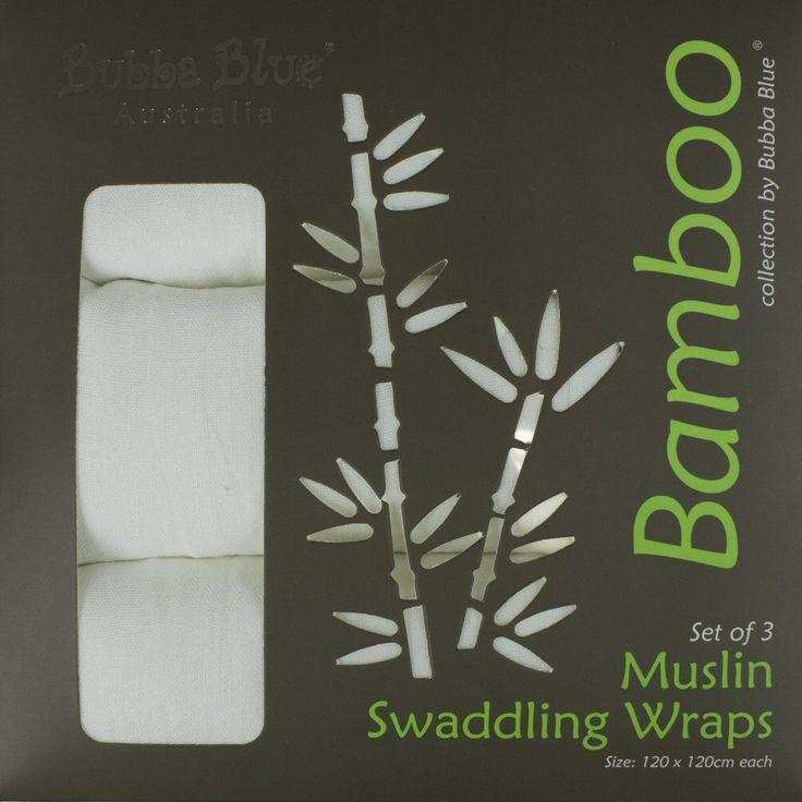 Bubba Blue Bamboo 3pk Muslin Wrap