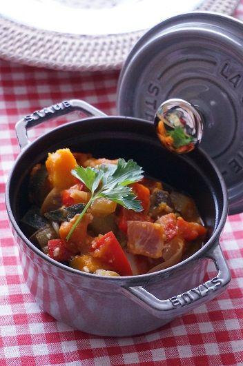 junjunの野菜日記:ストウブで作る♪塩麴ラタトゥイユ