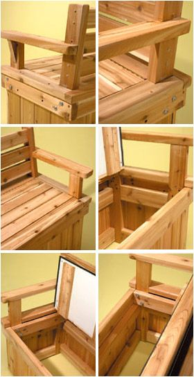 Double Duty Deck Bench! would love 2 of these for the lower deck