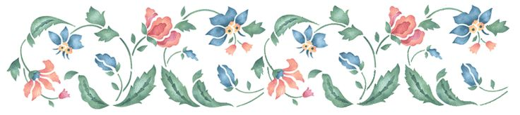 Table border---Flower Stencils - Wall to Wall Stencils Products