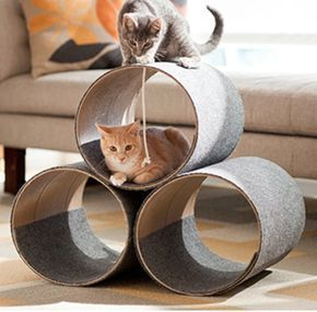 "DIY Modern cat condo #catsdiytree  SAVING FOR THE PICTURE AS IT SEEMS THIS ARTICLE HAS NOTHING TO DO WITH THE ""CAT CONDO"" SHOWN."