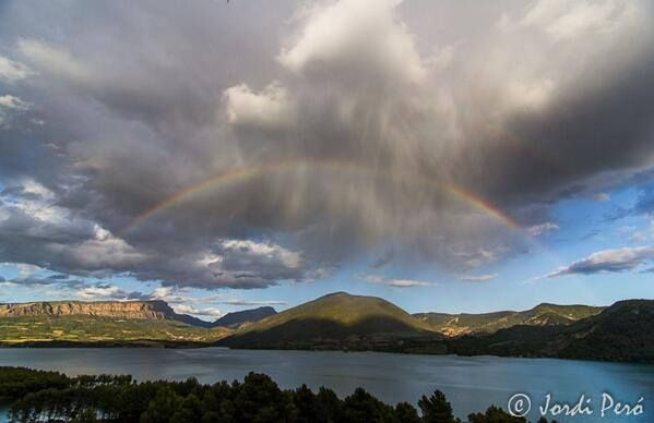 Amazing rainbow, over St. Antoni lake
