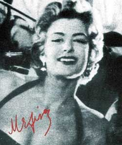 Melina Mercouri AKA Maria Amalia Mercouris    Born: 18-Oct-1920  Birthplace: Athens, Greece  Died: 6-Mar-1994  Location of death: New York City  Cause of death: Cancer - Lung