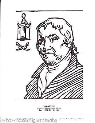 Paul Revere American Revolutionary Patriot Vintage Portrait Gallery Poster Print