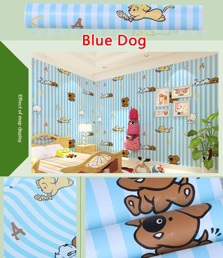 Aliexpress.com: Fashion LaLa üzerinde Güvenilir duvar kağıtları ev dekor tedarikçilerden 45*100 CM Karikatür Kids 'Odası Için Vinil Sticker Rulo Duvar Kağıdı Yatak Odası Duvar Resimleri Duvar Kağıtları Ev Dekor 3D duvar Örten Satın Alın